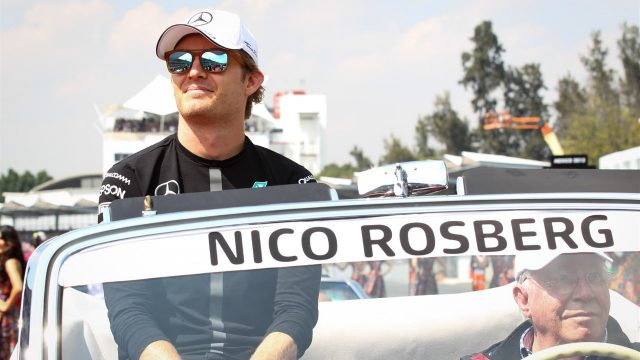 Nico Rosberg (GER) Mercedes AMG F1 at the drivers parade at Formula One World Championship, Rd17, Mexican Grand Prix, Race, Circuit Hermanos Rodriguez, Mexico City, Mexico, Sunday 1  November 2015. &copy&#x3b; Sutton Motorsport Images