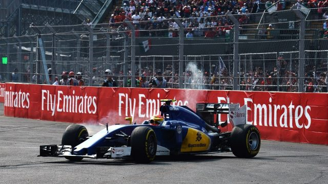 Felipe Nasr (BRA) Sauber C34 retires after spinning out at Formula One World Championship, Rd17, Mexican Grand Prix, Race, Circuit Hermanos Rodriguez, Mexico City, Mexico, Sunday 1  November 2015. &copy&#x3b; Sutton Motorsport Images