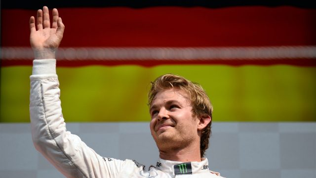 Race winner Nico Rosberg (GER) Mercedes AMG F1 celebrates on the podium at Formula One World Championship, Rd17, Mexican Grand Prix, Race, Circuit Hermanos Rodriguez, Mexico City, Mexico, Sunday 1  November 2015. &copy&#x3b; Sutton Motorsport Images