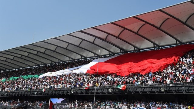 Fans and giant flag at Formula One World Championship, Rd17, Mexican Grand Prix, Race, Circuit Hermanos Rodriguez, Mexico City, Mexico, Sunday 1  November 2015. &copy&#x3b; Sutton Motorsport Images
