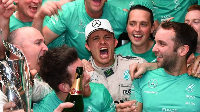 Race winner Nico Rosberg (GER) Mercedes AMG F1 celebrates with the team at Formula One World Championship, Rd17, Mexican Grand Prix, Race, Circuit Hermanos Rodriguez, Mexico City, Mexico, Sunday 1  November 2015. &copy&#x3b; Sutton Motorsport Images