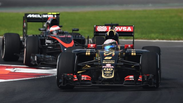 Romain Grosjean (FRA) Lotus E23 Hybrid at Formula One World Championship, Rd17, Mexican Grand Prix, Race, Circuit Hermanos Rodriguez, Mexico City, Mexico, Sunday 1  November 2015. &copy&#x3b; Sutton Motorsport Images