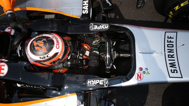 Nico Hulkenberg (GER) Force India VJM08 on the grid at Formula One World Championship, Rd17, Mexican Grand Prix, Race, Circuit Hermanos Rodriguez, Mexico City, Mexico, Sunday 1  November 2015. &copy&#x3b; Sutton Motorsport Images