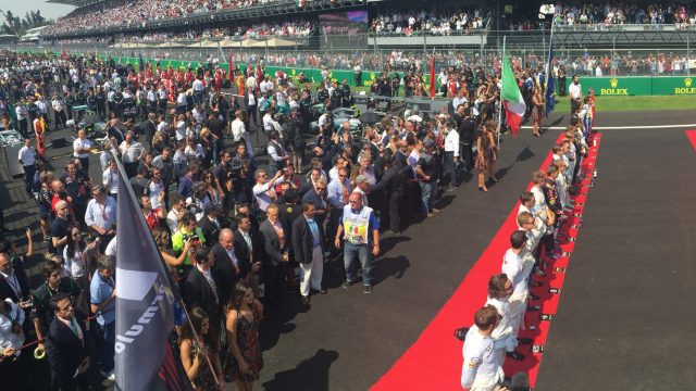 Grid, at Formula One World Championship, Rd17, Mexican Grand Prix, Race, Circuit Hermanos Rodriguez, Mexico City, Mexico, Sunday 1 November 2015. &copy&#x3b; FOWC Ltd