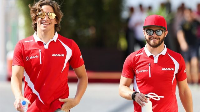 Roberto Merhi (ESP) Marussia and Will Stevens (GBR) Marussia at Formula One World Championship, Rd19, Abu Dhabi Grand Prix, Practice, Yas Marina Circuit, Abu Dhabi, UAE, Friday 27 November 2015. &copy&#x3b; Sutton Motorsport Images