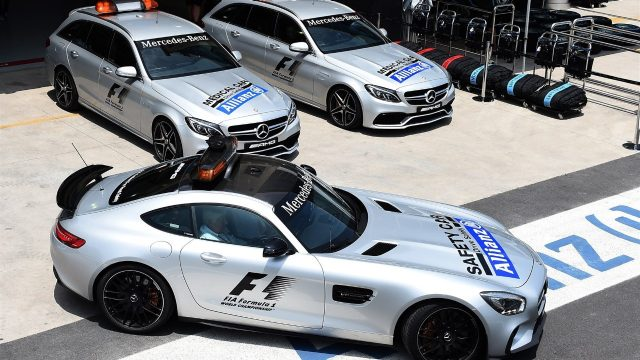 Safety Car and Medical Car at Formula One World Championship, Rd18, Brazilian Grand Prix, Preparations, Interlagos, Sao Paulo, Brazil, Thursday 12 November 2015. &copy&#x3b; Sutton Motorsport Images