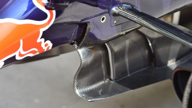 Red Bull Racing RB11 front splitter detail at Formula One World Championship, Rd18, Brazilian Grand Prix, Preparations, Interlagos, Sao Paulo, Brazil, Thursday 12 November 2015. &copy&#x3b; Sutton Motorsport Images