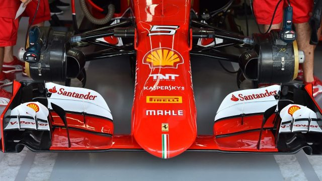 Ferrari SF15-T nose and front wing at Formula One World Championship, Rd18, Brazilian Grand Prix, Practice, Interlagos, Sao Paulo, Brazil, Friday 13 November 2015. &copy&#x3b; Sutton Motorsport Images