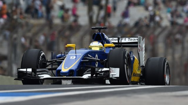 Marcus Ericsson (SWE) Sauber C34 at Formula One World Championship, Rd18, Brazilian Grand Prix, Practice, Interlagos, Sao Paulo, Brazil, Friday 13 November 2015. &copy&#x3b; Sutton Motorsport Images