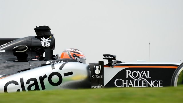 Nico Hulkenberg (GER) Force India VJM08 at Formula One World Championship, Rd18, Brazilian Grand Prix, Practice, Interlagos, Sao Paulo, Brazil, Friday 13 November 2015. &copy&#x3b; Sutton Motorsport Images