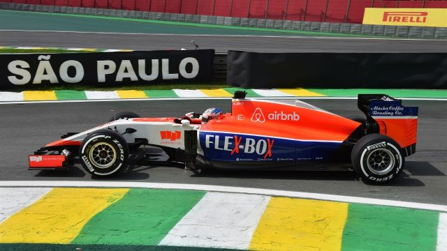 Will Stevens (GBR) Marussia at Formula One World Championship, Rd18, Brazilian Grand Prix, Practice, Interlagos, Sao Paulo, Brazil, Friday 13 November 2015. &copy&#x3b; Sutton Motorsport Images