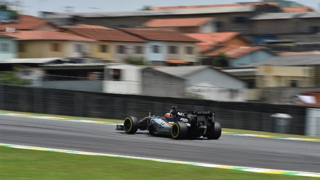 Nico Hulkenberg (GER) Force India VJM08 at Formula One World Championship, Rd18, Brazilian Grand Prix, Qualifying, Interlagos, Sao Paulo, Brazil, Saturday 14 November 2015. &copy&#x3b; Sutton Motorsport Images