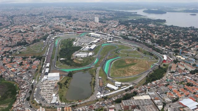 Aerial view at Formula One World Championship, Rd18, Brazilian Grand Prix, Race, Interlagos, Sao Paulo, Brazil, Sunday 15 November 2015. &copy&#x3b; Sutton Motorsport Images