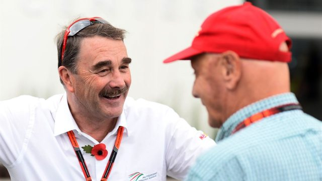 Nigel Mansell (GBR) at Formula One World Championship, Rd17, Mexican Grand Prix, Preparations, Circuit Hermanos Rodriguez, Mexico City, Mexico, Thursday 29 October 2015. &copy&#x3b; Sutton Motorsport Images
