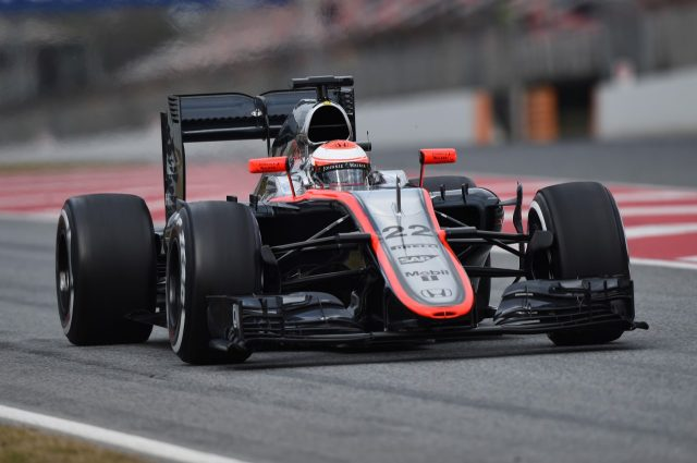 Jenson Button (GBR) McLaren MP4-30  at Formula One Testing, Day Three, Barcelona, Spain, 21 February 2015.