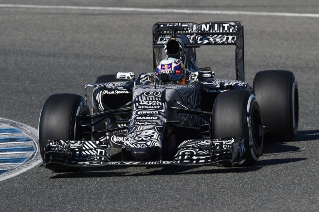 Daniel Ricciardo (AUS) Red Bull Racing RB11 at Formula One Testing, Day One, Jerez, Spain, 1 February 2015.