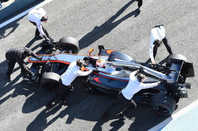 Jenson Button (GBR) McLaren MP4-30 at Formula One Testing, Day Four, Jerez, Spain, 4  February 2015.