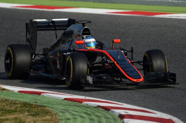 Fernando Alonso (ESP) McLaren MP4-30 at Formula One Testing, Day Two, Barcelona, Spain, 20 February 2015.