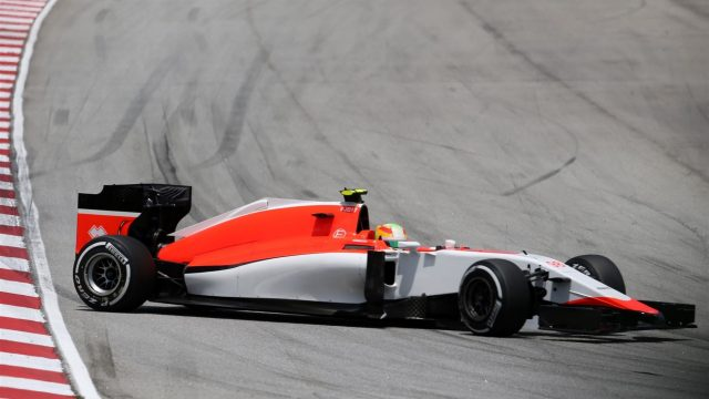 Roberto Merhi (ESP) Marussia spins in Free Practice Three at Formula One World Championship, Rd2, Malaysian Grand Prix, Qualifying, Sepang, Malaysia, Saturday 28  March 2015. &copy&#x3b; Sutton Motorsport Images