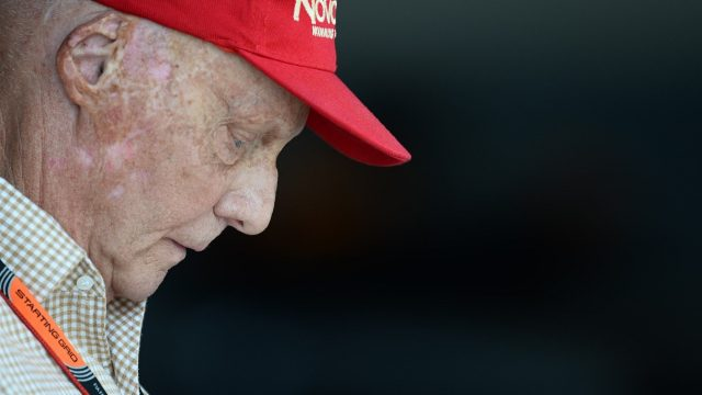 Niki Lauda (AUT) Mercedes AMG F1 Non-Executive Chairman at Formula One World Championship, Rd2, Malaysian Grand Prix, Race, Sepang, Malaysia, Sunday 29 March 2015. &copy&#x3b; Sutton Motorsport Images
