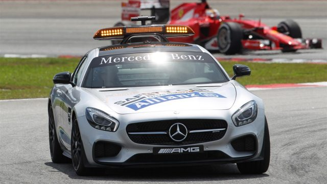 Safety Car leads the field at Formula One World Championship, Rd2, Malaysian Grand Prix, Race, Sepang, Malaysia, Sunday 29 March 2015. &copy&#x3b; Sutton Motorsport Images