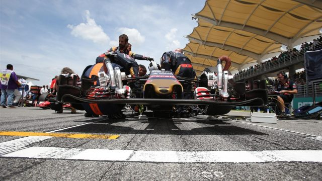 Max Verstappen (NDL) Scuderia Toro Rosso STR10 on the grid  at Formula One World Championship, Rd2, Malaysian Grand Prix, Race, Sepang, Malaysia, Sunday 29 March 2015. &copy&#x3b; Sutton Motorsport Images