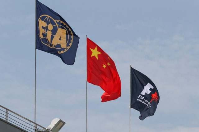 Flags at Formula One World Championship, Rd3, Chinese Grand Prix, Preparations, Shanghai, China, Thursday 9 April 2015. &copy&#x3b; Sutton Motorsport Images