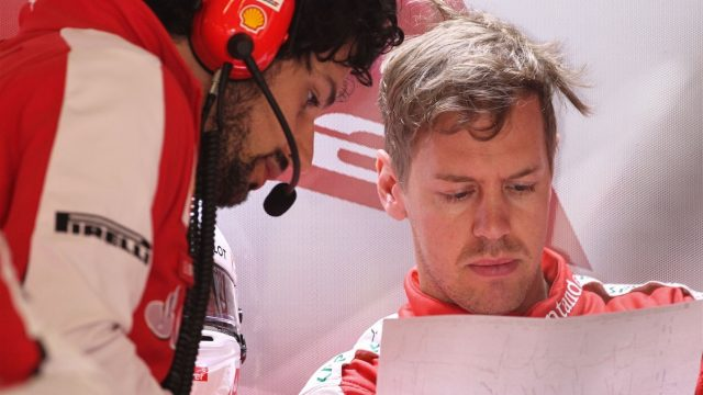 Sebastian Vettel (GER) Ferrari at Formula One World Championship, Rd3, Chinese Grand Prix, Practice, Shanghai, China, Friday 10 April 2015. &copy&#x3b; Sutton Motorsport Images