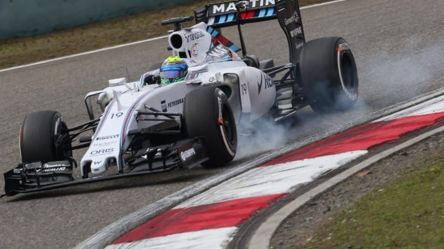 Felipe Massa (BRA) Williams FW37 locks up at Formula One World Championship, Rd3, Chinese Grand Prix, Practice, Shanghai, China, Friday 10 April 2015. &copy&#x3b; Sutton Motorsport Images