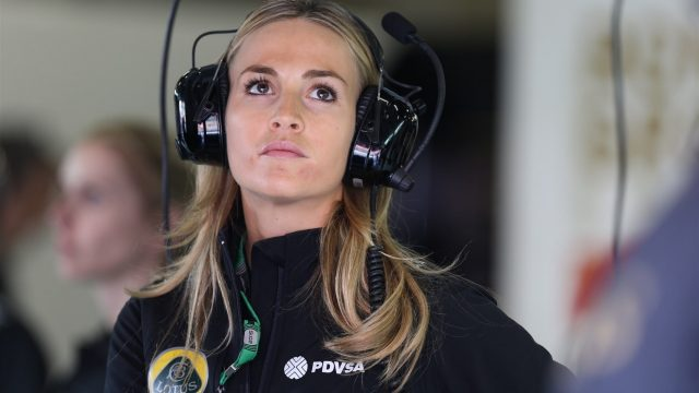 Carmen Jorda (ESP) Lotus F1 Development Driver at Formula One World Championship, Rd3, Chinese Grand Prix, Practice, Shanghai, China, Friday 10 April 2015. &copy&#x3b; Sutton Motorsport Images