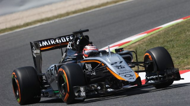 Nico Hulkenberg (GER) Force India VJM08 at Formula One World Championship, Rd5, Spanish Grand Prix Practice, Barcelona, Spain, Friday 8 May 2015. &copy&#x3b; Sutton Motorsport Images