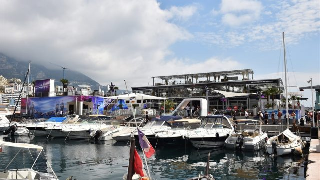 Red Bull hospitality / Energy Station at Formula One World Championship, Rd6, Monaco Grand Prix Preparations, Monte-Carlo, Monaco, Wednesday 20 May 2015. &copy&#x3b; Sutton Motorsport Images