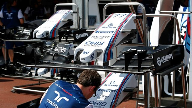 Williams FW37 nose and front wing at Formula One World Championship, Rd6, Monaco Grand Prix Preparations, Monte-Carlo, Monaco, Wednesday 20 May 2015. &copy&#x3b; Sutton Motorsport Images
