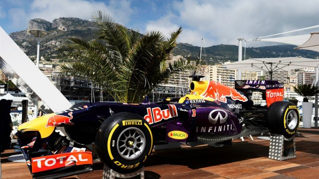 Red Bull Racing show car at the Red Bull Energy Station at Formula One World Championship, Rd6, Monaco Grand Prix Preparations, Monte-Carlo, Monaco, Wednesday 20 May 2015. &copy&#x3b; Sutton Motorsport Images