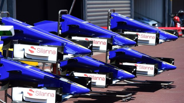 Sauber C34 nose and front wings at Formula One World Championship, Rd6, Monaco Grand Prix Preparations, Monte-Carlo, Monaco, Wednesday 20 May 2015. &copy&#x3b; Sutton Motorsport Images