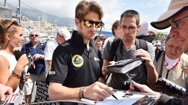Romain Grosjean (FRA) Lotus F1 at Formula One World Championship, Rd6, Monaco Grand Prix Preparations, Monte-Carlo, Monaco, Wednesday 20 May 2015. &copy&#x3b; Sutton Motorsport Images