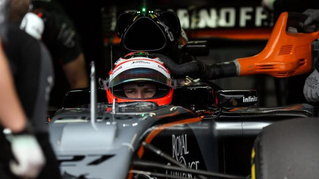 Nico Hulkenberg (GER) Force India VJM08 at Formula One World Championship, Rd6, Monaco Grand Prix Practice, Monte-Carlo, Monaco, Thursday 21  May 2015. &copy&#x3b; Sutton Motorsport Images