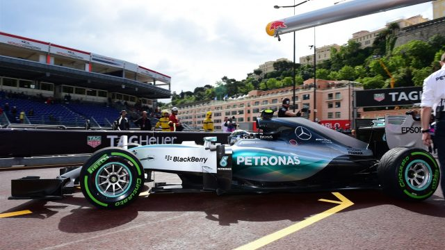 Nico Rosberg (GER) Mercedes AMG F1 W06 at Formula One World Championship, Rd6, Monaco Grand Prix Practice, Monte-Carlo, Monaco, Thursday 21  May 2015. &copy&#x3b; Sutton Motorsport Images