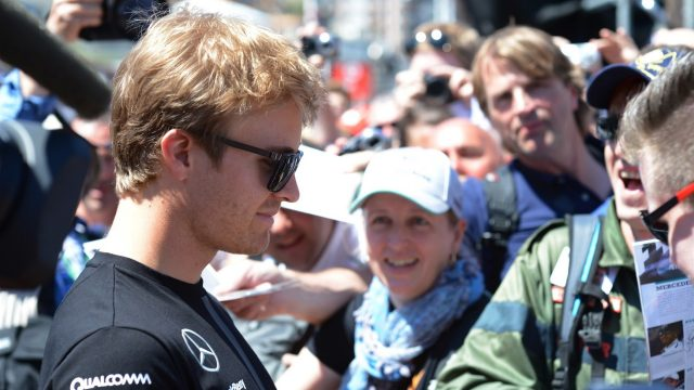 Nico Rosberg (GER) Mercedes AMG F1 signs autographs for the fans at Formula One World Championship, Rd6, Monaco Grand Prix, Monte-Carlo, Monaco, Friday 22 May 2015. &copy&#x3b; Sutton Motorsport Images