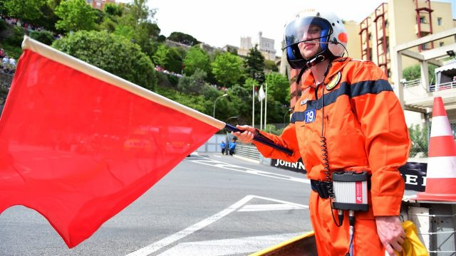 Red Flag at Formula One World Championship, Rd6, Monaco Grand Prix Qualifying, Monte-Carlo, Monaco, Saturday 23 May 2015. &copy&#x3b; Sutton Motorsport Images