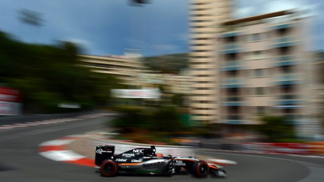 Nico Hulkenberg (GER) Force India VJM08 at Formula One World Championship, Rd6, Monaco Grand Prix Qualifying, Monte-Carlo, Monaco, Saturday 23 May 2015. &copy&#x3b; Sutton Motorsport Images