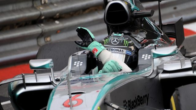 Race winner Nico Rosberg (GER) Mercedes AMG F1 W06 celebrates at Formula One World Championship, Rd6, Monaco Grand Prix Race, Monte-Carlo, Monaco, Sunday 24 May 2015. &copy&#x3b; Sutton Motorsport Images