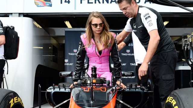 Cara Delevingne (GBR) Model at Formula One World Championship, Rd6, Monaco Grand Prix Race, Monte-Carlo, Monaco, Sunday 24 May 2015. &copy&#x3b; Sutton Motorsport Images