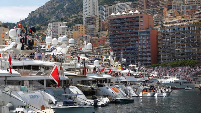 Fans and boats at Formula One World Championship, Rd6, Monaco Grand Prix Race, Monte-Carlo, Monaco, Sunday 24 May 2015. &copy&#x3b; Sutton Motorsport Images