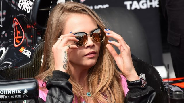 Cara Delevingne (GBR) Model in the McLaren MP4-30 at Formula One World Championship, Rd6, Monaco Grand Prix Race, Monte-Carlo, Monaco, Sunday 24 May 2015. &copy&#x3b; Sutton Motorsport Images