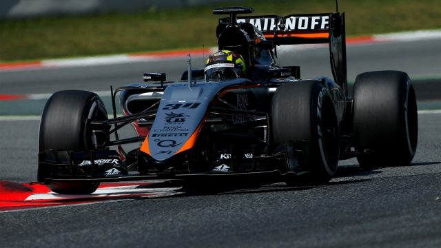 Nick Yelloly (GBR) Force India VJM08 at Formula One Testing, Day One, Barcelona, Spain, 12 May 2015. &copy&#x3b; Sutton Motorsport Images
