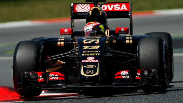 Pastor Maldonado (VEN) Lotus E23 Hybrid at Formula One Testing, Day One, Barcelona, Spain, 12 May 2015. &copy&#x3b; Sutton Motorsport Images