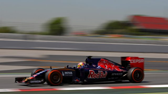 Pierre Gasly (FRA) Scuderia Toro Rosso STR10 at Formula One Testing, Day One, Barcelona, Spain, 12 May 2015. &copy&#x3b; Sutton Motorsport Images