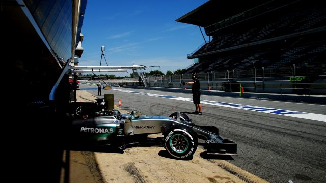Nico Rosberg (GER) Mercedes AMG F1 W06 at Formula One Testing, Day One, Barcelona, Spain, 12 May 2015. &copy&#x3b; Sutton Motorsport Images
