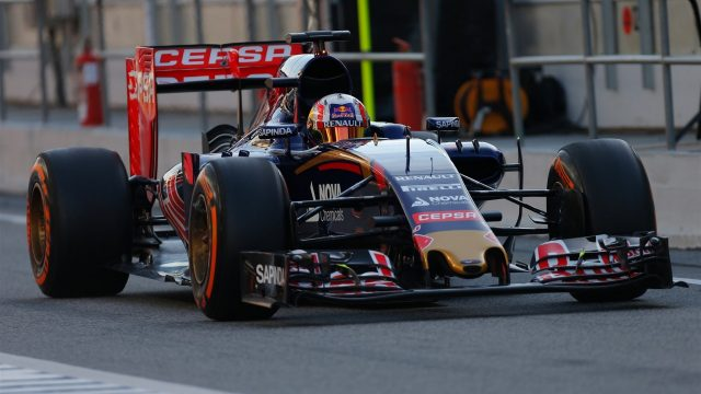Pierre Gasly (FRA) Scuderia Toro Rosso STR10 at Formula One Testing, Day One, Barcelona, Spain, 12 May 2015.